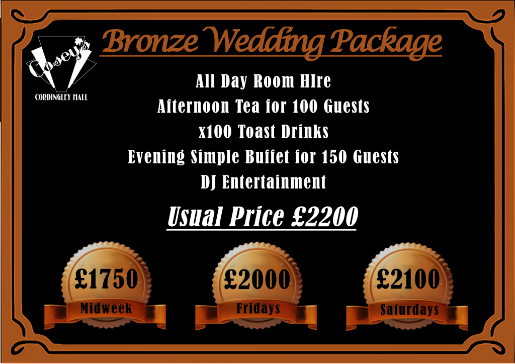 BRONZE Wedding Package