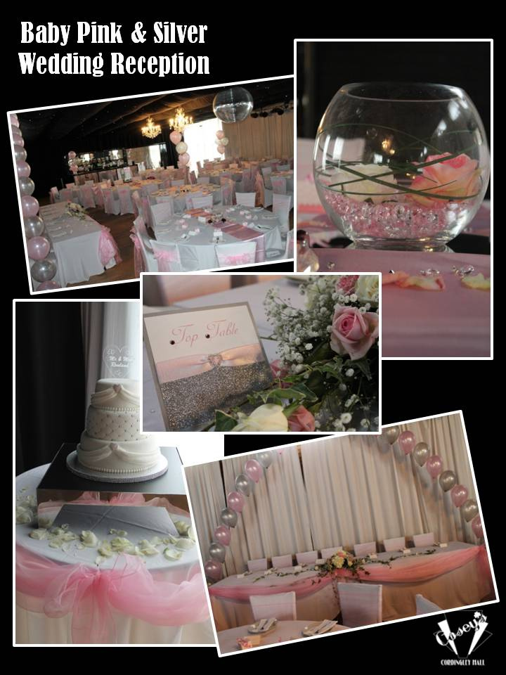 Baby Pink & Silver Wedding