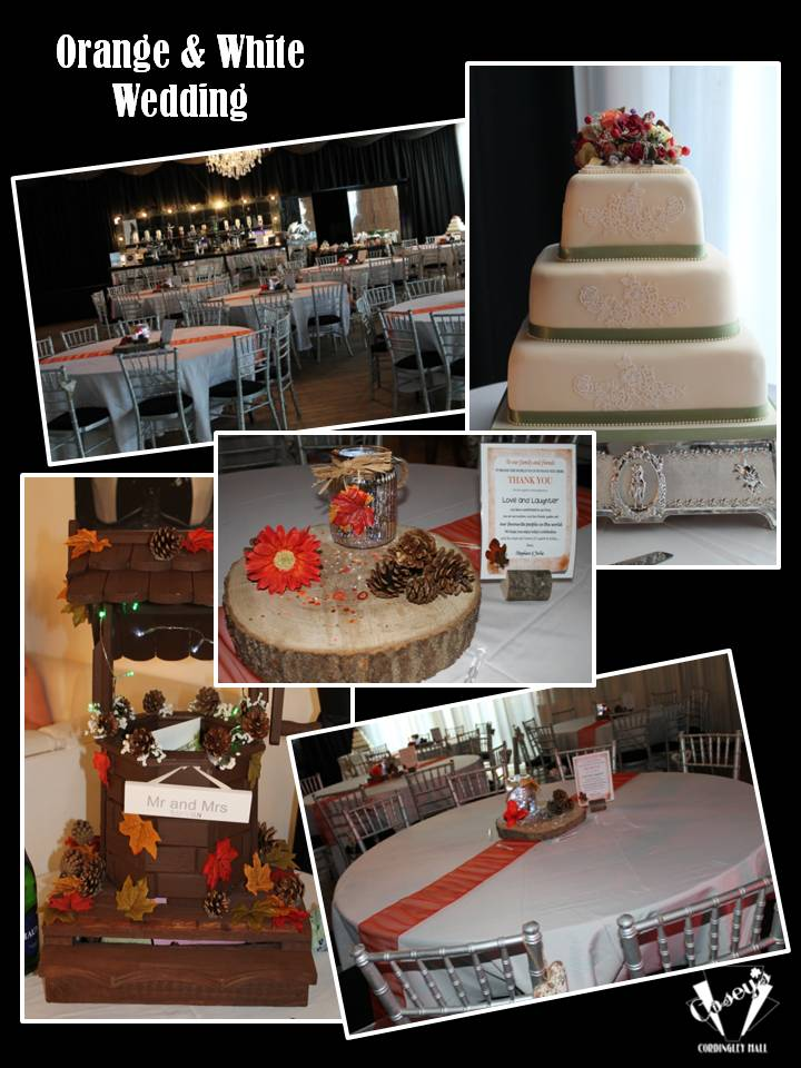 Orange & White Wedding