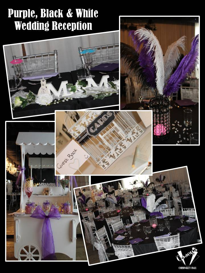 Purple, Black & White Wedding