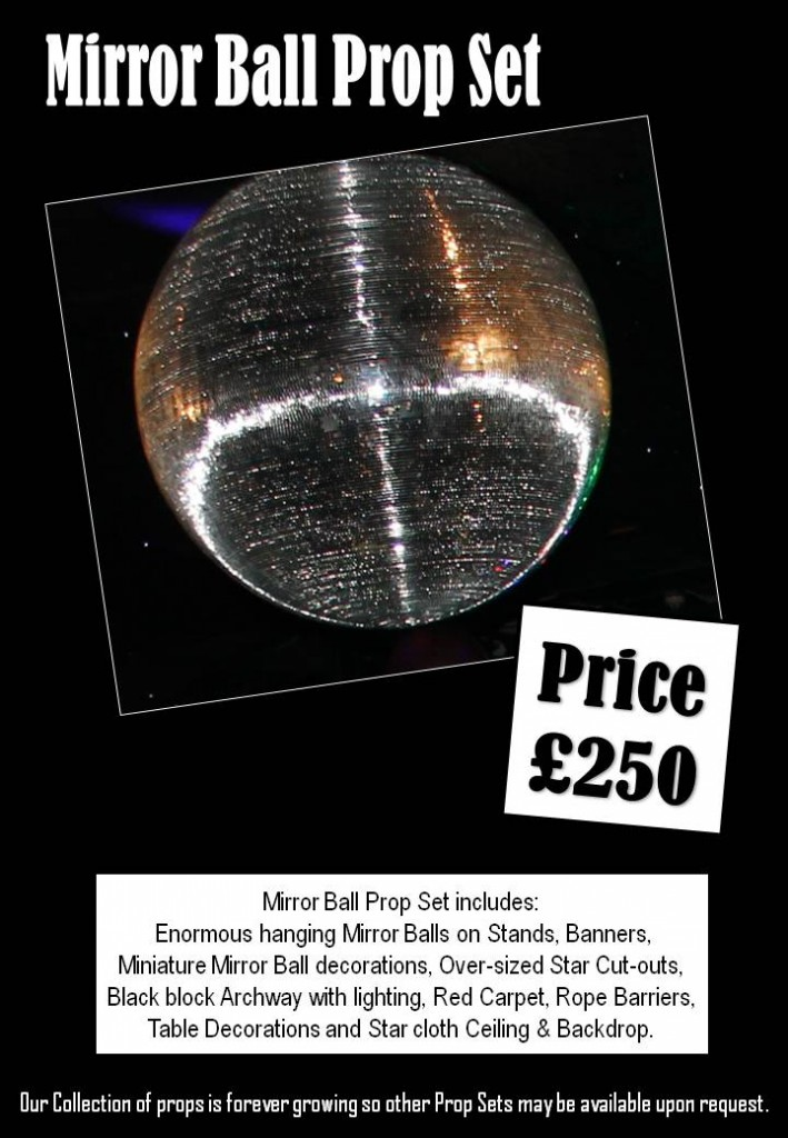 Mirrorball Prop Set