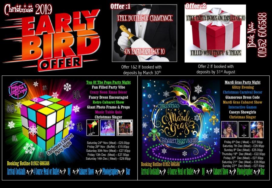 Xmas 2019 early bird offer