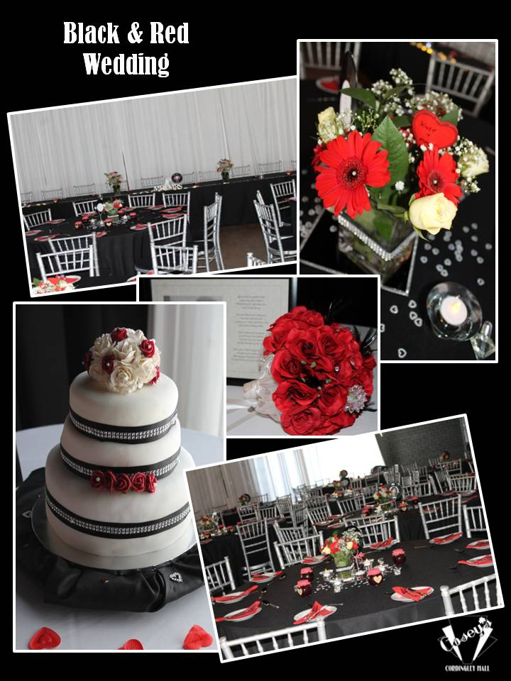 Black & Red Wedding
