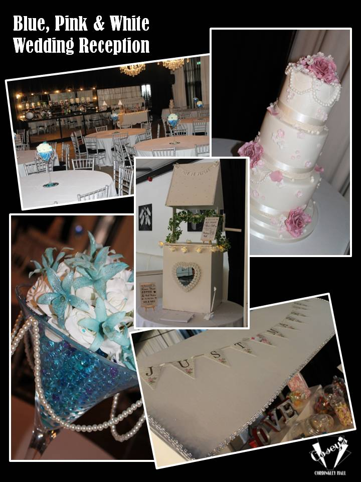 Blue, Pink & White Wedding