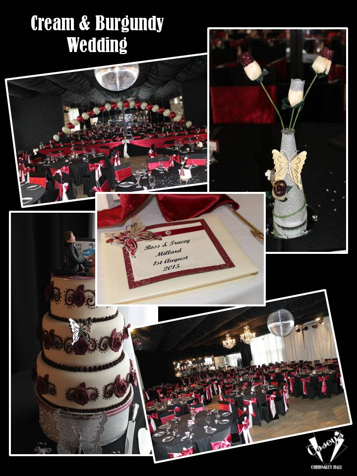 Cream & Burgundy Wedding