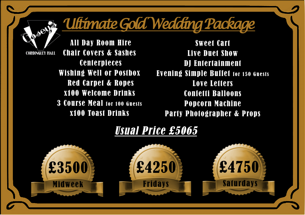 GOLD Ulitmate Wedding Package