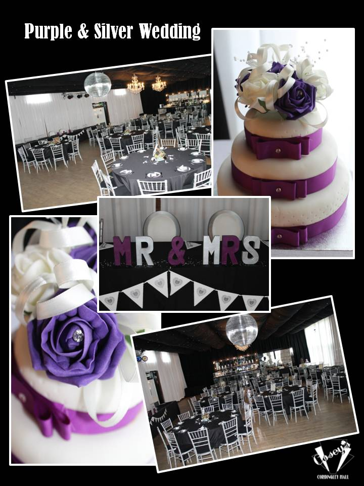 Purple & Silver Wedding