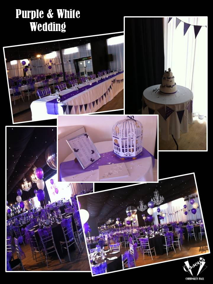 Purple & White Wedding
