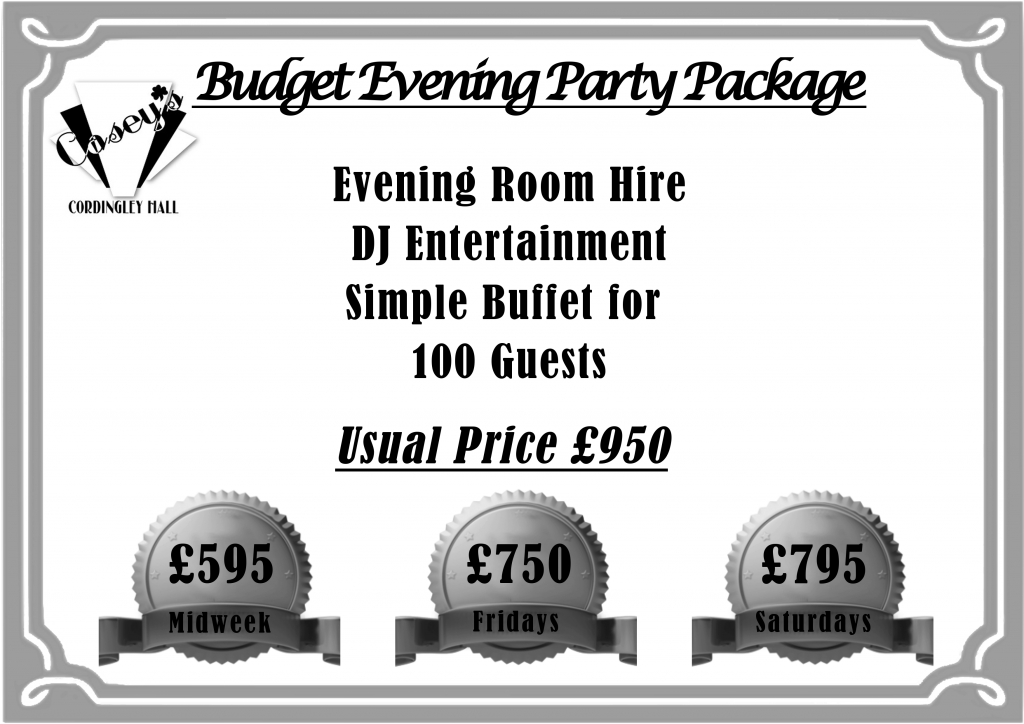 WHITE Budget Evening Package