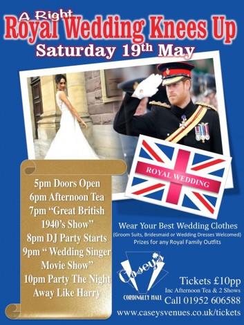 Royal Wedding sat 19th may