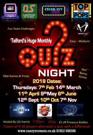 quiz night poster 2019