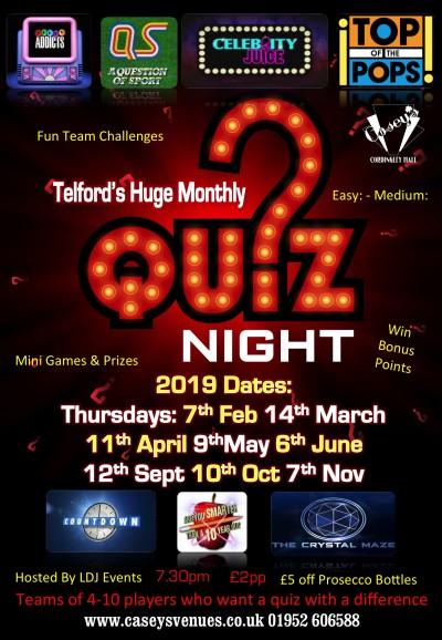 quiz night poster 2019